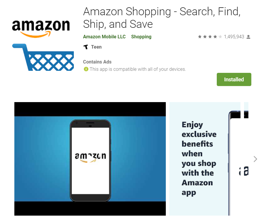Amazon Android Shopping App
